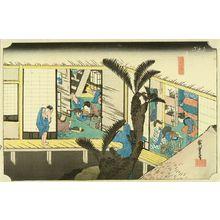 Utagawa Hiroshige: Akasaka, from - Hara Shobō