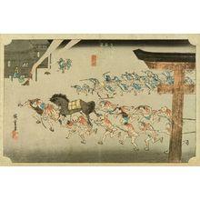 Utagawa Hiroshige: Miya, from - Hara Shobō
