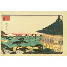 Utagawa Hiroshige: Sazai Hall at Goyhaku Rakan Temple, from - Hara Shobō