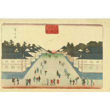 Utagawa Hiroshige: Evening view of Kasumigaseki, from - Hara Shobō
