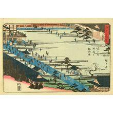 歌川広重: The Hall at Myohoji Temple, Horinouchi, from - 原書房