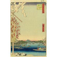 Utagawa Hiroshige: Distant view of Asakusa seen from a boat at Ryogoku, from - Hara Shobō