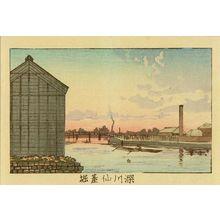 井上安治: Sendai Moat, Fukagawa, from - 原書房