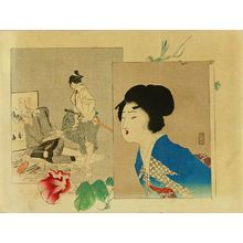 Tomioka Eisen: Frontispiece of a novel in - Hara Shobō