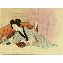 Mizuno Toshikata: Frontispiece of a novel in - Hara Shobō