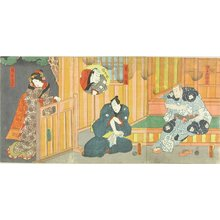 Utagawa Kunisada: Actors in the play - Hara Shobō