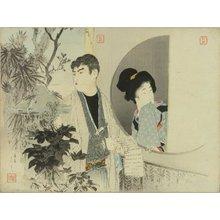 富岡英泉: A frontispiece of a novel, 1896 - 原書房