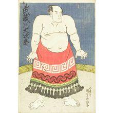 Utagawa Kunisada: Portrait of the sumo wrestler Musashigawa Daijiro, c.1828 - Hara Shobō