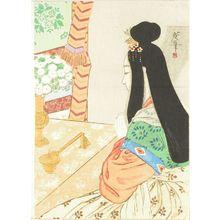 Tsukioka Kogyo: A frontispiece of a novel, 1908 - Hara Shobō