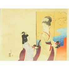 Tomioka Eisen: A frontispiece of a novel, 1903 - Hara Shobō