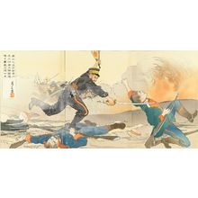 GESSAN: Scene of Japan-Russo war, triptych, 1904 - 原書房
