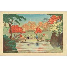 小林清親: Takinogawa ike no hashi (Bridge at takinogawa), from - 原書房