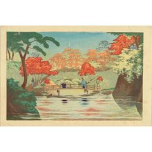 Kobayashi Kiyochika: Takinogawa ike no hashi (Bridge at takinogawa), from - Hara Shobō