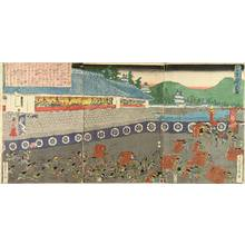 歌川貞秀: A battle of Kamakura, triptych, c.1848 - 原書房
