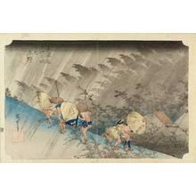 Utagawa Hiroshige: Shono, White rain, from - Hara Shobō