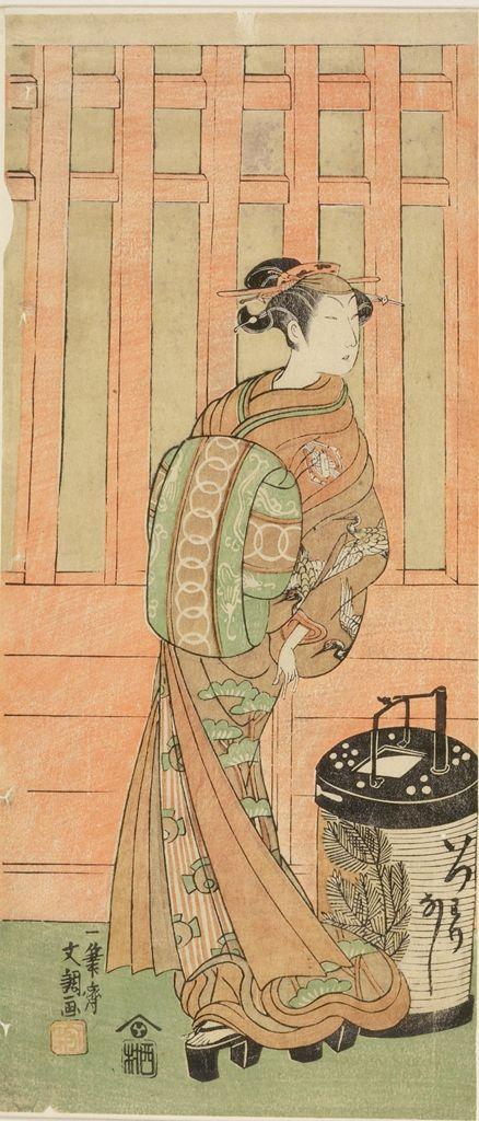 Edo period date edo period middle 1704 1789 details more information - Ippitsusai Buncho Actor Nakamura Utaemon 2nd As A