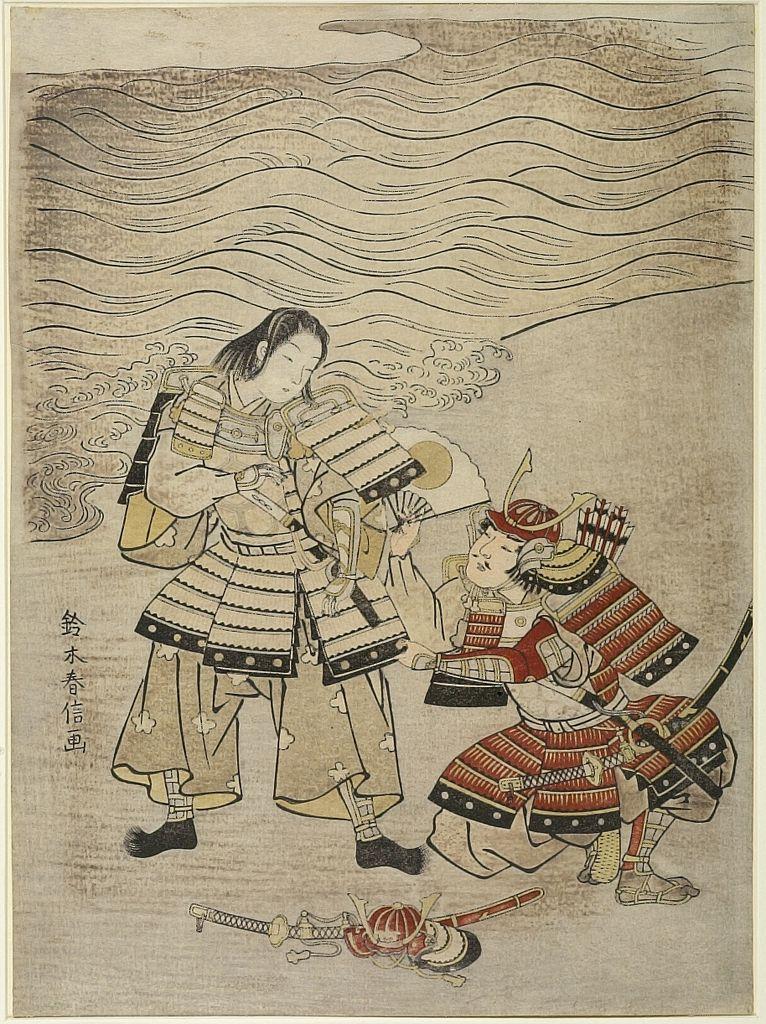 Edo period date edo period middle 1704 1789 details more information - Suzuki Harunobu Warriors Kumagai Naozane And Taira No