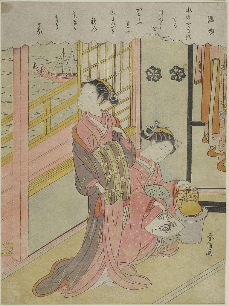 Edo period date edo period middle 1704 1789 details more information - Suzuki Harunobu Looking At Edo Bay Edo Period Circa