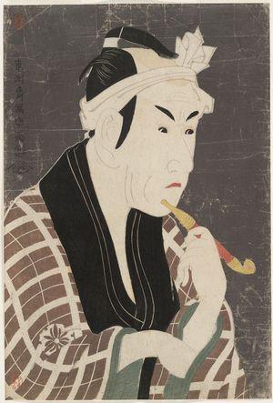 Toshusai Sharaku: Actor Matsumoto Kôshirô 4th as Gorôbei, the Fishmonger from San'ya from the Play