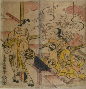 Torii Kiyomasu I: SCENE FROM YAOYA O-SHICHI, Edo period, - Harvard Art Museum