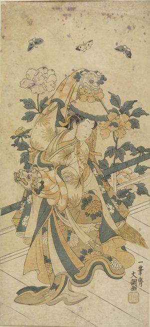 Ippitsusai Buncho: Actor Segawa Kikunojô in the Shakkyô Dance - Harvard Art Museum