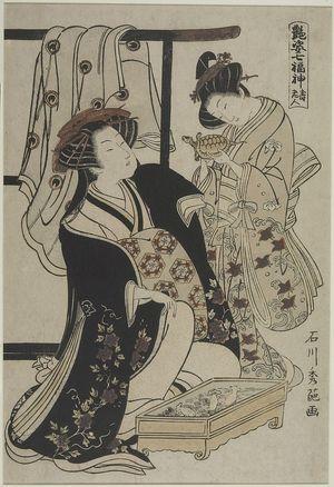 Ishikawa Toyonobu: Oiran and Kamuro with Turtle, Edo period, circa 1778 - Harvard Art Museum