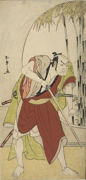 勝川春章: Actor Nakamura Nakazô 1st as Teraoka Heiemon in the play Kanadehon Chûshingura, performed at the Morita Theater from the eighth month of 1779, Edo period, 1779 (8th month) - ハーバード大学