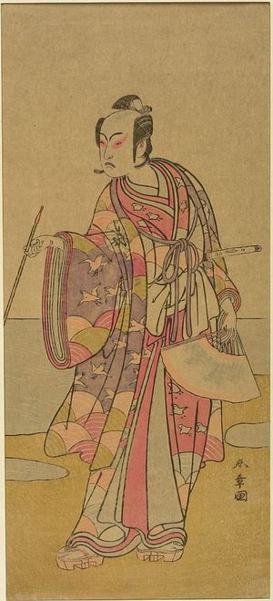 Katsukawa Shunsho: Actor Matsumoto Koshirô 4th AS SOGA NO TURO - Harvard Art Museum