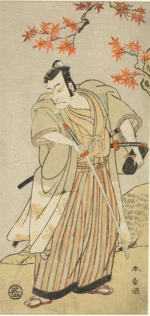 勝川春章: Actor with Drawn Sword - ハーバード大学