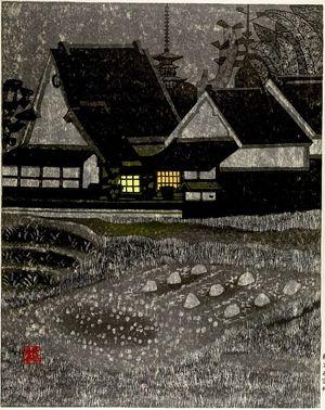 Okiie: Quiet Evening, Shôwa period, dated 1958 - Harvard Art Museum