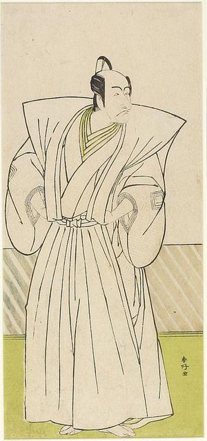 勝川春好: Actor Ichikawa Danjûrô as Yuranosuke, Chief of the Forty-Seven Loyal Ronin, Edo period, circa 1770-1790 - ハーバード大学