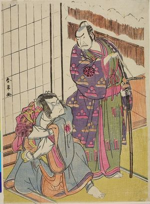 Katsukawa Shunjô: Actors Nakamura Denkurô and Ichikawa Monosuke - ハーバード大学