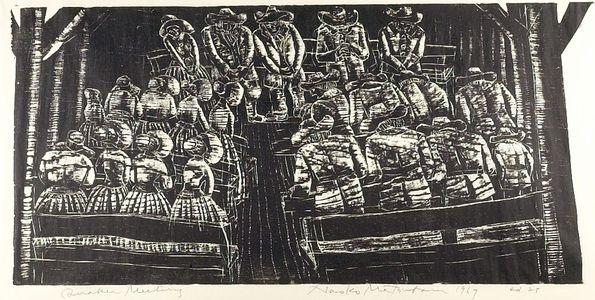 松原直子: Quaker Meeting, Shôwa period, dated 1967 - ハーバード大学