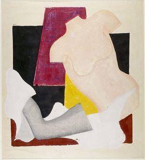 恩地孝四郎: Composition No. 3 Mannequin, Shôwa period, dated 1949 - ハーバード大学