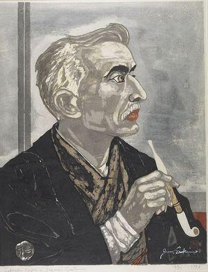 関野準一郎: Portrait of Lafcadio Hearn, Shôwa period, dated 1953 - ハーバード大学