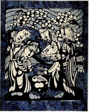 Watanabe Sadao: Christ of the Miracle of Loaves and Fish, Shôwa period, dated 1967 - Harvard Art Museum
