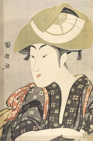 Utagawa Kunimasa: Actor Iwai Kumesaburô in a Female Role, Late Edo period, - Harvard Art Museum