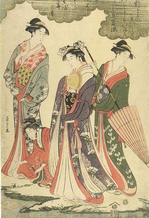 Hosoda Eishi: FOUR LADIES AT SHORE - Harvard Art Museum