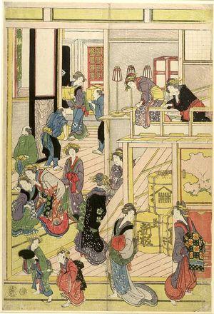 Katsushika Hokusai: Interior of a Yoshiwara Tea House - Harvard Art Museum