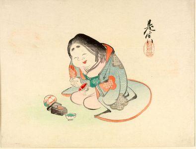 Shibata Zeshin: OTAFUKU MIXING COLORS - Harvard Art Museum