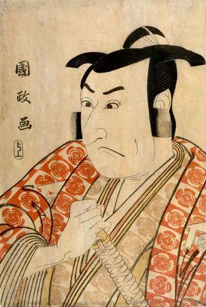 歌川国政: Actor Nakamura Denkûrô AS KUDO SUKETSUNE - ハーバード大学