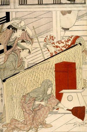 喜多川歌麿: Housecleaning (Susuhaki), Late Edo period, circa 1797-1799 - ハーバード大学