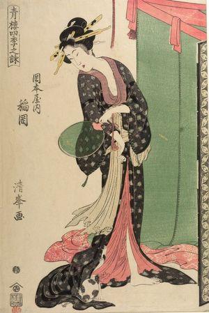 二代目鳥居清満: PICTURES OF TEA HOUSES IN THE FOUR SEASONS,
