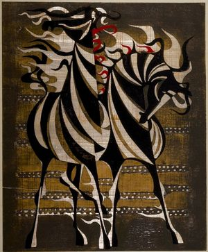 Nakayama Tadashi: Horses in the Afternoon (Gogo no uma), Shôwa period, dated 1961 - Harvard Art Museum