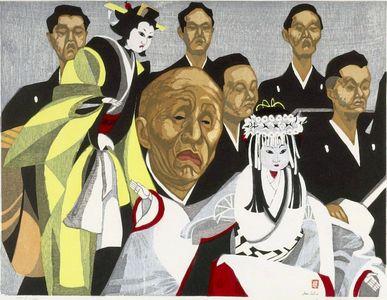 Sekino Jun'ichiro: Bungorô on Stage, Shôwa period, 1953 - Harvard Art Museum