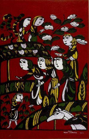 Watanabe Sadao: Visit of the Wisemen to the Stable, Shôwa period, dated 1962 - Harvard Art Museum