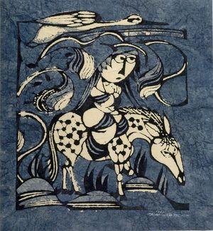 Watanabe Sadao: Escape, Shôwa period, dated 1962 - Harvard Art Museum