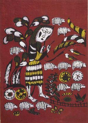 Watanabe Sadao: Shepherd, Shôwa period, dated 1962 - Harvard Art Museum