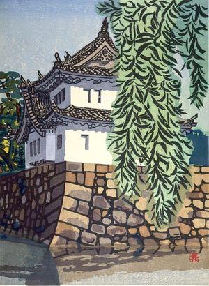 橋本興家: Chiyoda Castle in Summer (Kakki Meijo - Chiyoda-jo), Shôwa period, dated 1941 - ハーバード大学