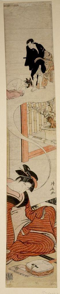 Edo period date edo period middle 1704 1789 details more information - Torii Kiyonaga Female Musician Dreaming Of Robbery Edo